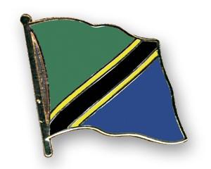 Flaggen-Pins Tansania (geschwungen)