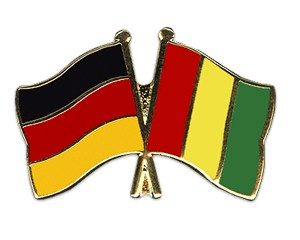 Freundschaftspins Deutschland-Guinea
