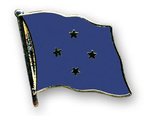 Flaggen-Pins Mikronesien (geschwungen)