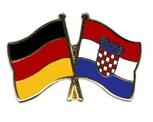 Freundschaftspins Deutschland-Kroatien