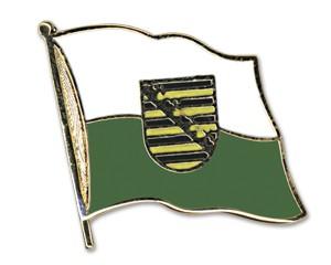 Flaggen-Pins Sachsen (geschwungen)