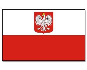 Flagge Polen mit Adler 90 x 150