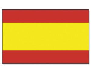 Stock-Flagge Spanien ohne Wappen 30 x 45