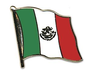 Flaggen-Pins Mexiko (geschwungen)