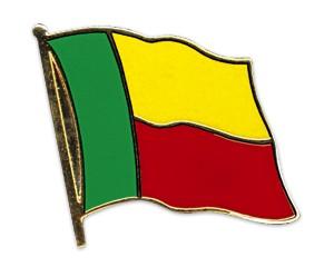 Flaggen-Pins Benin (geschwungen)
