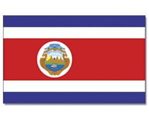 Stock-Flagge Costa Rica 30 x 45
