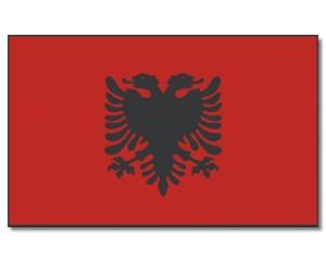Stock-Flagge Albanien 30 x 45