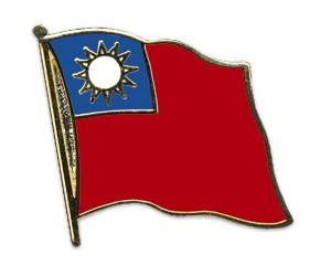 Flaggen-Pins Taiwan (geschwungen)