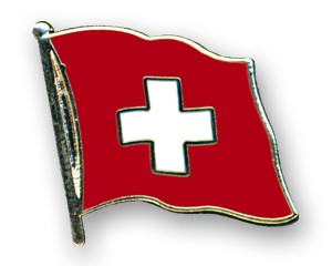 Flaggen-Pins Schweiz (geschwungen)