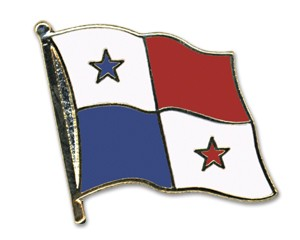 Flaggen-Pins Panama (geschwungen)