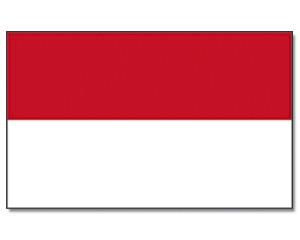 Stock-Flagge Indonesien 30 x 45