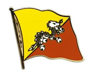 Flaggen-Pins Bhutan (geschwungen)