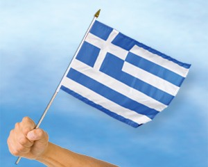 Stock-Flagge Griechenland 30 x 45