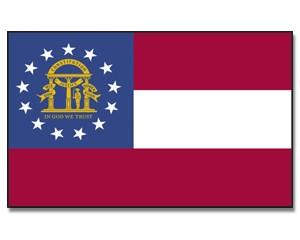 Flagge Georgia 90 x 150