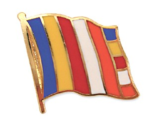 Flaggen Pins Buddhismus Flagge (geschwungen)