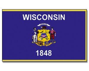 Flagge Wisconsin 90 x 150