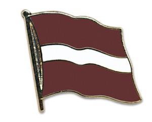 Flaggen-Pins Lettland (geschwungen)