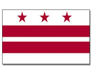 Flagge District-of-Columbia 90 x 150
