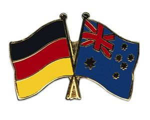 Freundschaftspins Deutschland-Australien