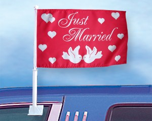 Autoflagge Just Married 27 x 45