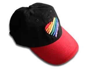 """Baseballcap """"Regenbogenherz"""""""