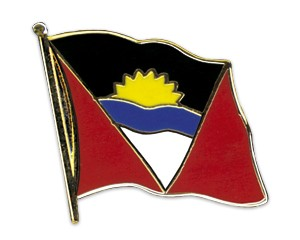 Flaggen-Pins Antigua and Barbuda (geschwungen)