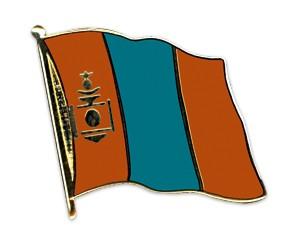 Flaggen-Pins Mongolei (geschwungen)