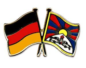 Freundschaftspins Deutschland-Tibet