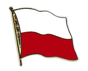 Flaggen-Pins Polen (geschwungen)