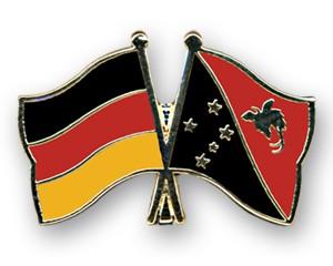 Freundschaftspins Deutschland-Papua-Neuguinea