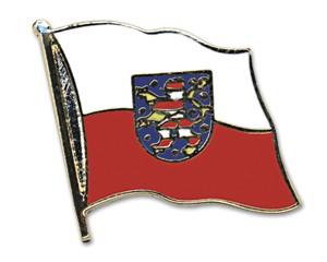 Flaggen-Pins Thüringen (geschwungen)