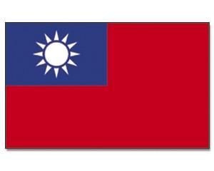 Stock-Flagge Taiwan 30 x 45