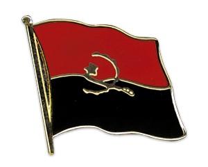 Flaggen-Pins Angola (geschwungen)