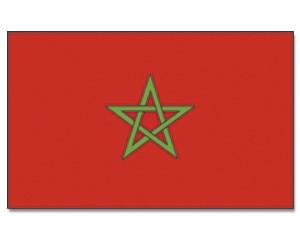 Stock-Flagge Marokko 30 x 45