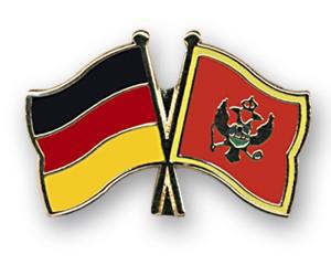 Freundschaftspins Deutschland-Montenegro