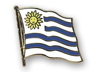 Flaggen-Pins Uruguay (geschwungen)