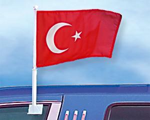 Autoflagge Türkei 27 x 45