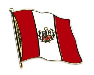 Flaggen-Pins Peru (geschwungen)