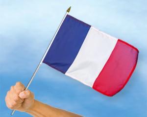 Stock-Flagge Frankreich 30 x 45