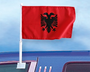 Autoflagge Albanien 27 x 45