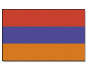 Stock-Flagge Armenien 30 x 45