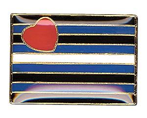 Pin Leather Pride Flag (rechteckig), 18 mm