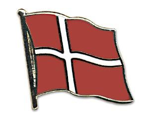 Flaggen-Pins Dänemark (geschwungen)