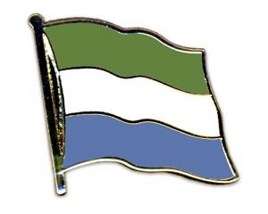 Flaggen-Pins Sierra Leone (geschwungen)