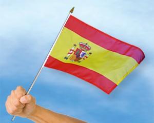 Stock-Flagge Spanien 30 x 45