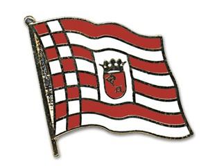 Flaggen-Pins Bremen (geschwungen)