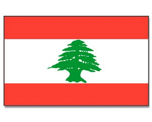 Stock-Flagge Libanon 30 x 45