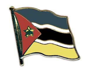 Flaggen-Pins Mosambik (geschwungen)