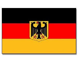 Stock-Flagge Deutschland mit Adler 30 x 45