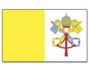 Stock-Flagge Vatikanstadt 30 x 45